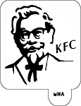 Mr. HAIR ART STENCIL - KFC