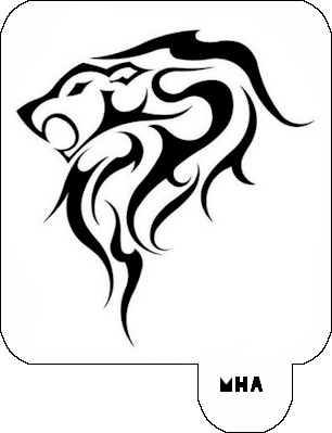 Gallery For gt Stencils Of Lions