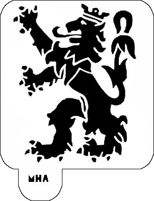 Mr. HAIR ART STENCIL - Lion Logo