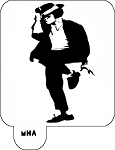 Mr. HAIR ART STENCIL - Michael Jackson 1
