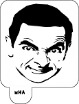 Mr. HAIR ART STENCIL - Mr Bean
