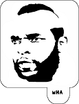 Mr. HAIR ART STENCIL - Mr T