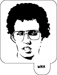 Mr. HAIR ART STENCIL - Napoleon Dynamite 1