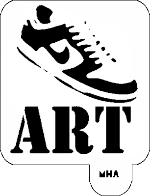 Mr. HAIR ART STENCIL - Nike Shoe Art