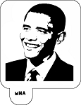 Mr. HAIR ART STENCIL - Obama 1