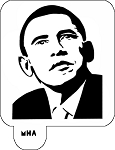 Mr. HAIR ART STENCIL - Obama 2