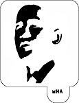 Mr. HAIR ART STENCIL - Obama 4