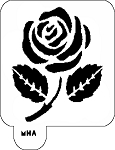 Mr. HAIR ART STENCIL - Rose 2