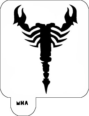 Mr. HAIR ART STENCIL - Scorpion