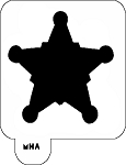 Mr. HAIR ART STENCIL - Sheriff Badge