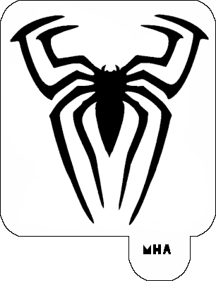 Mr. HAIR ART STENCIL - Spider 1