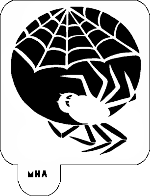 Mr. HAIR ART STENCIL - Spider and Web 2