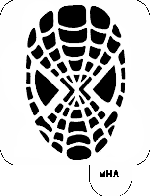 Mr. HAIR ART STENCIL - Spiderman 2