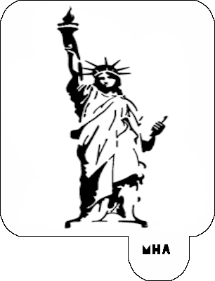MR. HAIR ART STENCIL - STATUE OF LIBERTY 2