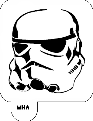 MR. HAIR ART STENCIL - STORM TROOPER