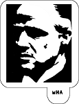 Hair Art Stencil - The Godfather