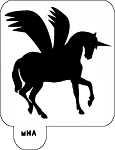 Hair Art Stencil - Winged Unicorn