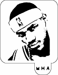 MR. HAIR ART STENCIL - LEBRON JAMES