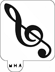 MR. HAIR ART STENCIL - MUSIC - TREBLE CLEF NOTE