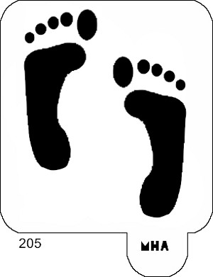 Mr. HAIR ART STENCIL - Foot Prints