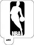 Mr. Hair Art Stencil - NBA Logo