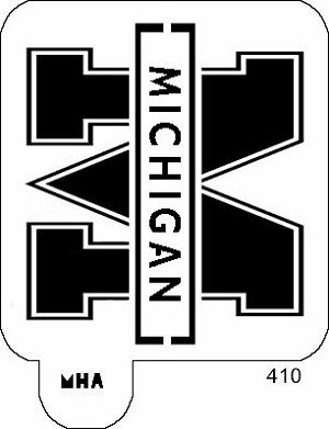 Mr. HAIR ART STENCIL -  Michigan Wolverines Logo