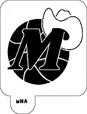 Mr. HAIR ART STENCIL -  Dallas Mavericks Logo 2