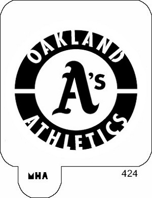 Mr. HAIR ART STENCIL -  Oakland A's Logo