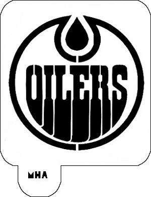 Mr. HAIR ART STENCIL -  Oilers Logo
