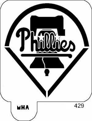 Mr. HAIR ART STENCIL -  Old Phillies Logo