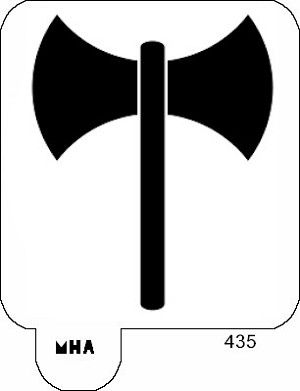 Mr. Hair Art Stencil - LABRYS SYMBOL
