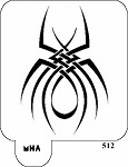 MR. HAIR ART STENCIL - SHARP SPIDER