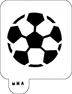 MR. HAIR ART STENCIL - SOCCER BALL 2