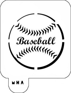 MR. HAIR ART STENCIL - BASEBALL 2