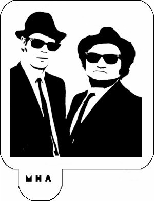 MR. HAIR ART STENCIL - THE BLUES BROTHERS