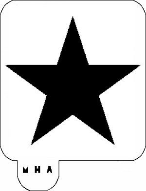 MR. HAIR ART STENCIL - STAR