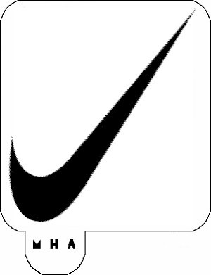 MR. HAIR ART STENCIL - NIKE SWOOSH
