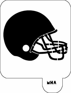 MR. HAIR ART STENCIL - FOOTBALL HELMET