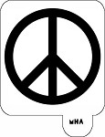 MR. HAIR ART STENCIL - PEACE SIGN