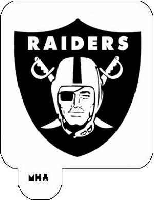 MR. HAIR ART STENCIL - OAKLAND RAIDERS