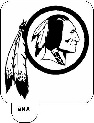 MR. HAIR ART STENCIL - WASHINGTON REDSKINS