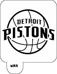 MR. HAIR ART STENCIL - DETROIT PISTONS