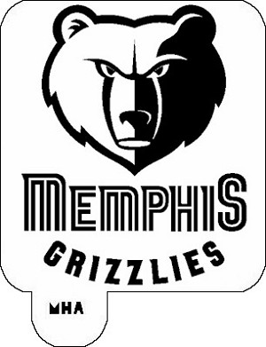 MR. HAIR ART STENCIL - MEMPHIS GRIZZLIES