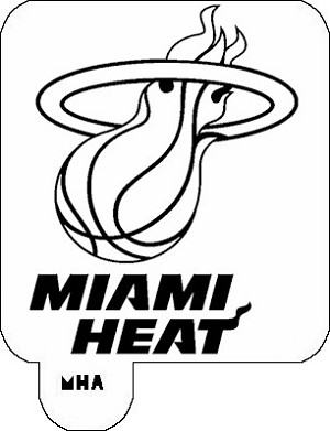 MR. HAIR ART STENCIL - MIAMI HEAT