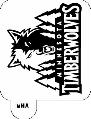 MR. HAIR ART STENCIL - MINNESOTA TIMBERWOLVES