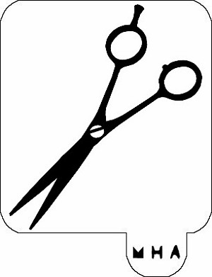 MR. HAIR ART STENCIL - SHEARS 2