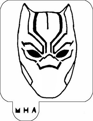 MR. HAIR ART STENCIL - BLACK PANTHER MASK 2