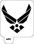 MR. HAIR ART STENCIL - AIRFORCE LOGO