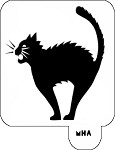 MR. HAIR ART STENCIL - ANGRY CAT
