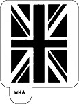 MR. HAIR ART STENCIL - BRITISH FLAG